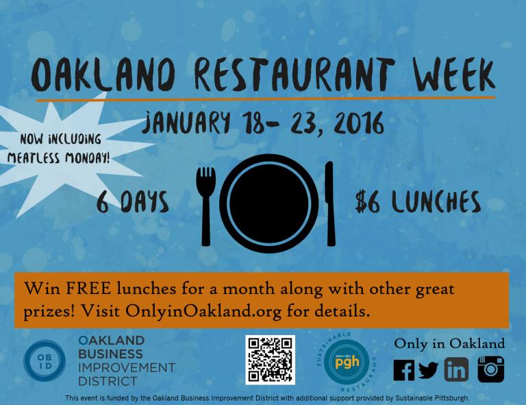 Oakland Restaurant Week Pittsburgh